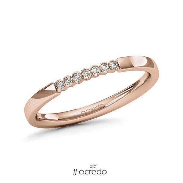 Memoire/Diamantring in Rotgold 585 mit zus. 0,07 ct. Brillant tw, si von acredo