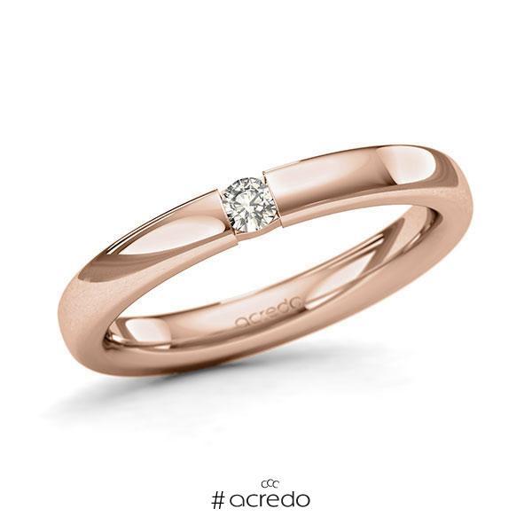 Memoire/Diamantring in Rotgold 585 mit zus. 0,08 ct. Brillant tw, si von acredo