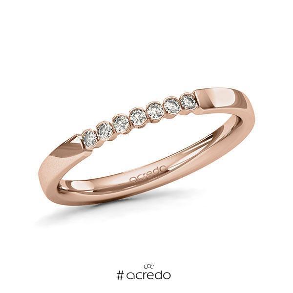 Memoire/Diamantring in Rotgold 585 mit zus. 0,105 ct. Brillant tw, si von acredo