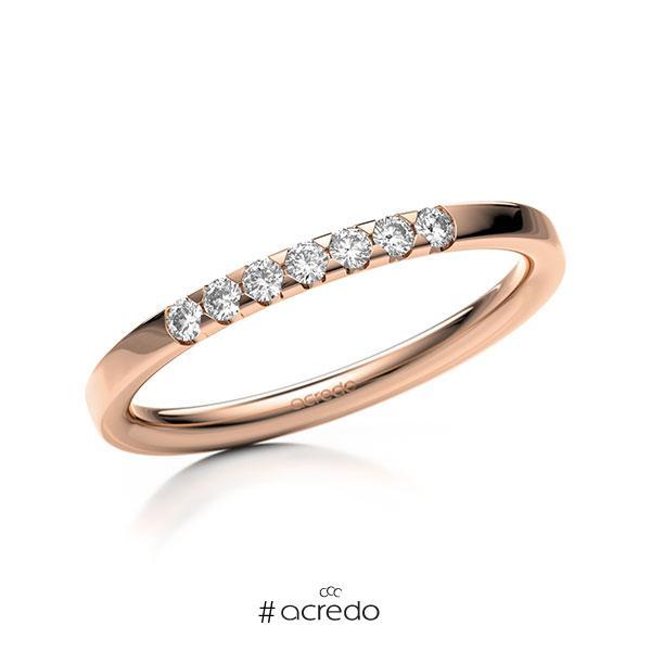 Memoire/Diamantring in Rotgold 585 mit zus. 0,14 ct. Brillant tw, si von acredo