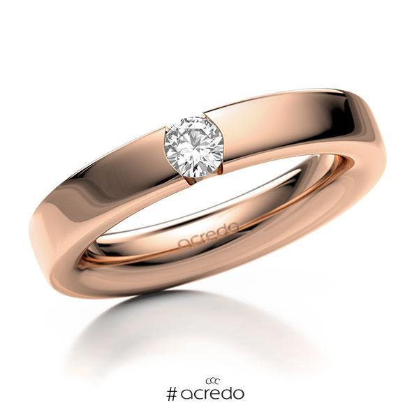 Memoire/Diamantring in Rotgold 585 mit zus. 0,25 ct. Brillant tw, si von acredo