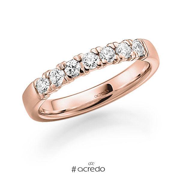 Memoire/Diamantring in Rotgold 585 mit zus. 0,35 ct. Brillant tw, vs von acredo