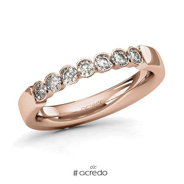 Memoire/Diamantring in Rotgold 585 mit zus. 0,42 ct. Brillant tw, si von acredo