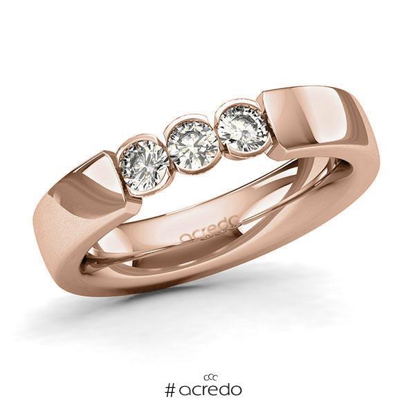 Memoire/Diamantring in Rotgold 585 mit zus. 0,45 ct. Brillant tw, si von acredo