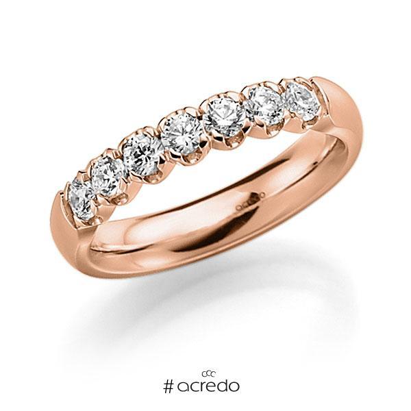 Memoire/Diamantring in Rotgold 585 mit zus. 0,49 ct. Brillant tw, vs von acredo