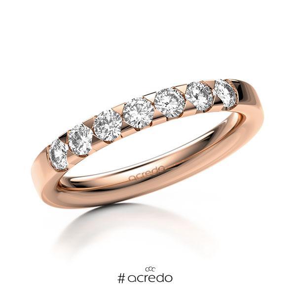 Memoire/Diamantring in Rotgold 585 mit zus. 0,56 ct. Brillant tw, si von acredo