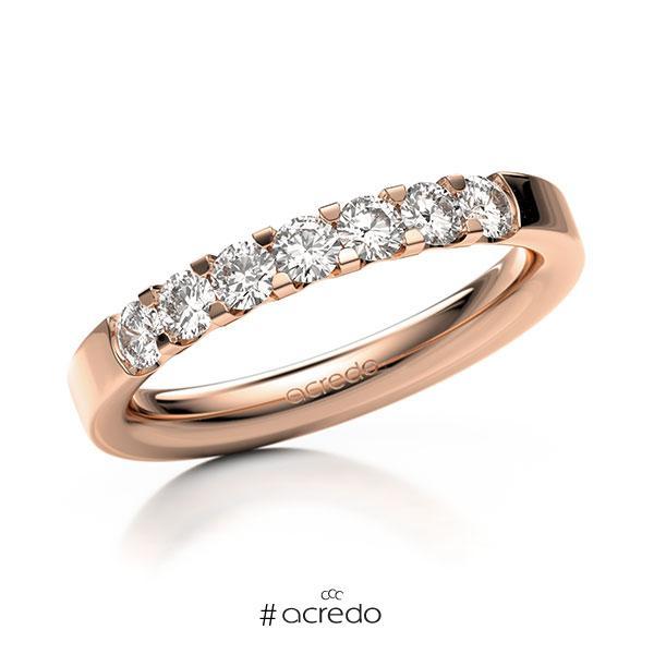 Memoire/Diamantring in Rotgold 585 mit zus. 0,56 ct. Brillant tw, vs von acredo