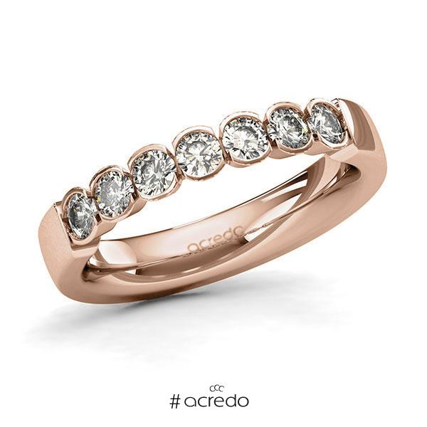 Memoire/Diamantring in Rotgold 585 mit zus. 0,7 ct. Brillant tw, si von acredo