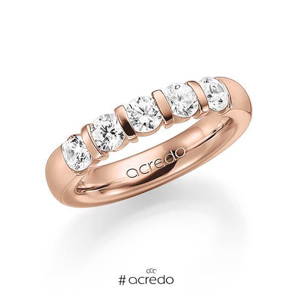Memoire/Diamantring in Rotgold 585 mit zus. 1,25 ct. Brillant tw, vs von acredo