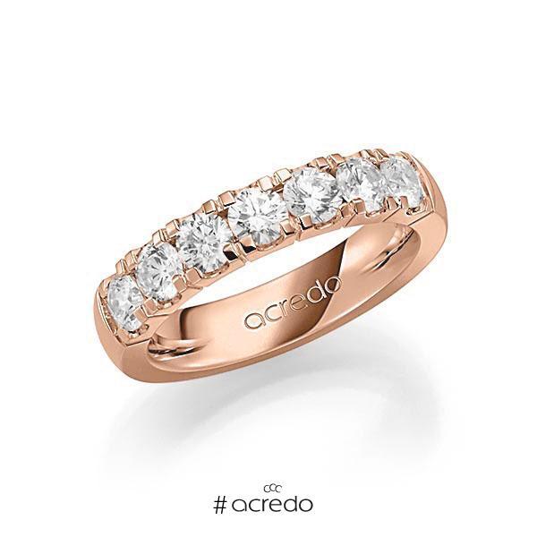 Memoire/Diamantring in Rotgold 585 mit zus. 1,4 ct. Brillant tw, vs von acredo