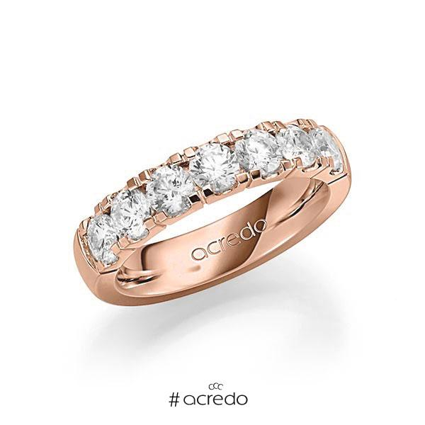 Memoire/Diamantring in Rotgold 585 mit zus. 1,75 ct. Brillant tw, vs von acredo