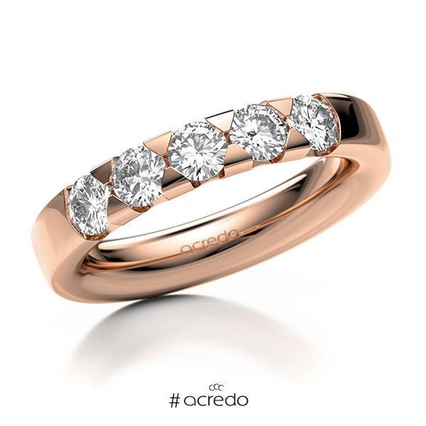 Memoire/Diamantring in Rotgold 585 mit zus. 1 ct. Brillant tw, si von acredo