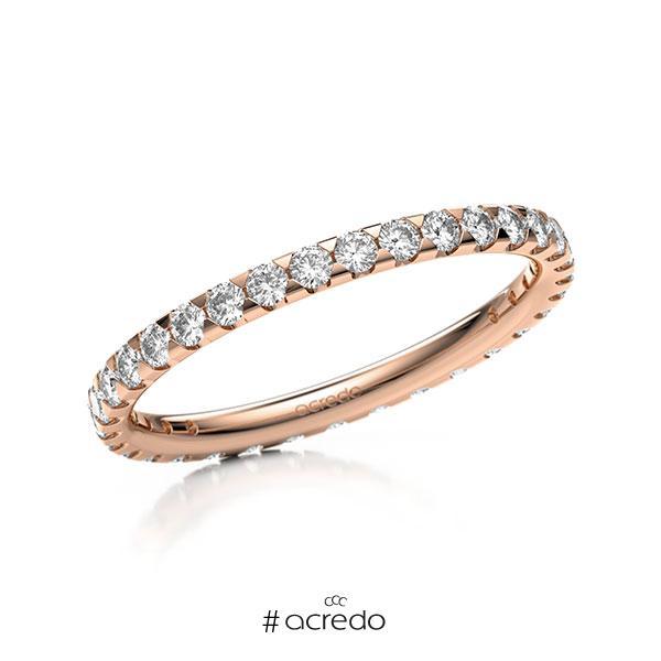 Memoire/Diamantring in Rotgold 585 vollausgefasst mit zus. 0,66 ct. Brillant tw, si von acredo
