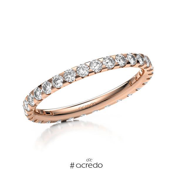 Memoire/Diamantring in Rotgold 585 vollausgefasst mit zus. 0,9 ct. Brillant tw, si von acredo
