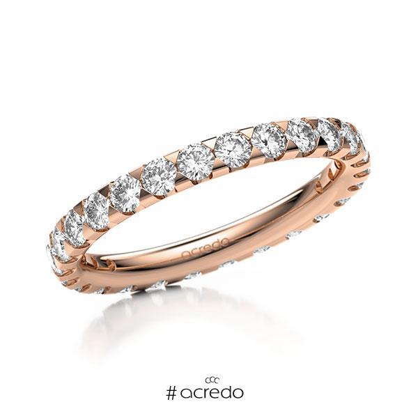 Memoire/Diamantring in Rotgold 585 vollausgefasst mit zus. 1,3 ct. Brillant tw, si von acredo