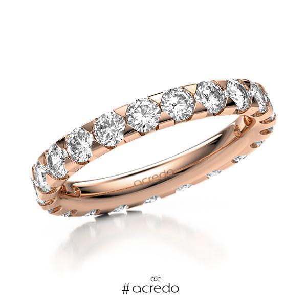 Memoire/Diamantring in Rotgold 585 vollausgefasst mit zus. 2,1 ct. Brillant tw, si von acredo