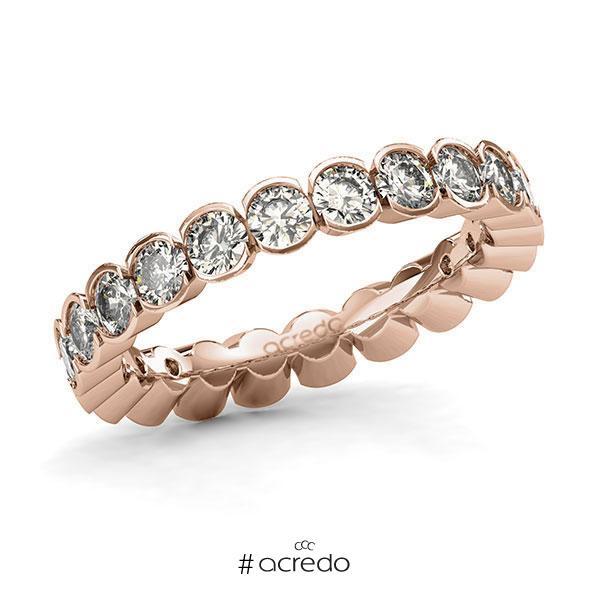 Memoire/Diamantring in Rotgold 585 vollausgefasst mit zus. 2,2 ct. Brillant tw, si von acredo