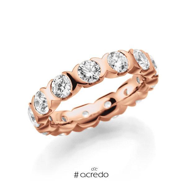 Memoire/Diamantring in Rotgold 585 vollausgefasst mit zus. 2,6 ct. Brillant tw, vs von acredo