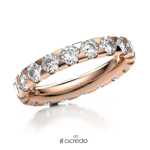 Memoire/Diamantring in Rotgold 585 vollausgefasst mit zus. 2,7 ct. Brillant tw, si von acredo