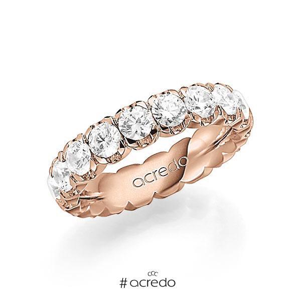 Memoire/Diamantring in Rotgold 585 vollausgefasst mit zus. 3,6 ct. Brillant tw, vs von acredo