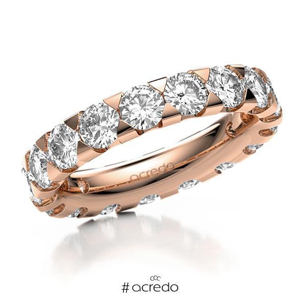 Memoire/Diamantring in Rotgold 585 vollausgefasst mit zus. 4,25 ct. Brillant tw, si von acredo