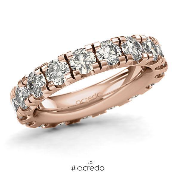 Memoire/Diamantring in Rotgold 585 vollausgefasst mit zus. 4,5 ct. Brillant tw, si von acredo