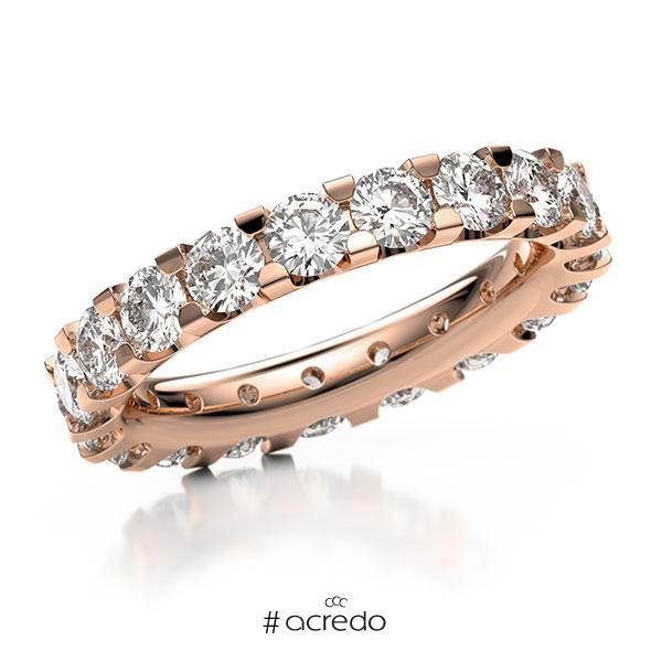 Memoire/Diamantring in Rotgold 750 vollausgefasst mit zus. 3,04 ct. Brillant tw, vs von acredo