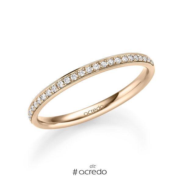 Memoire/Diamantring in Signature Gold 585 halbausgefasst mit zus. 0,13 ct. Brillant tw, si von acredo