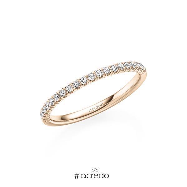 Memoire/Diamantring in Signature Gold 585 halbausgefasst mit zus. 0,21 ct. Brillant tw, vs von acredo