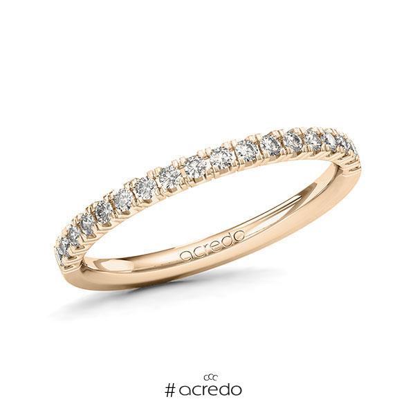 Memoire/Diamantring in Signature Gold 585 halbausgefasst mit zus. 0,27 ct. Brillant tw, vs von acredo