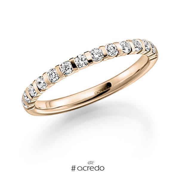 Memoire/Diamantring in Signature Gold 585 halbausgefasst mit zus. 0,39 ct. Brillant tw, vs von acredo