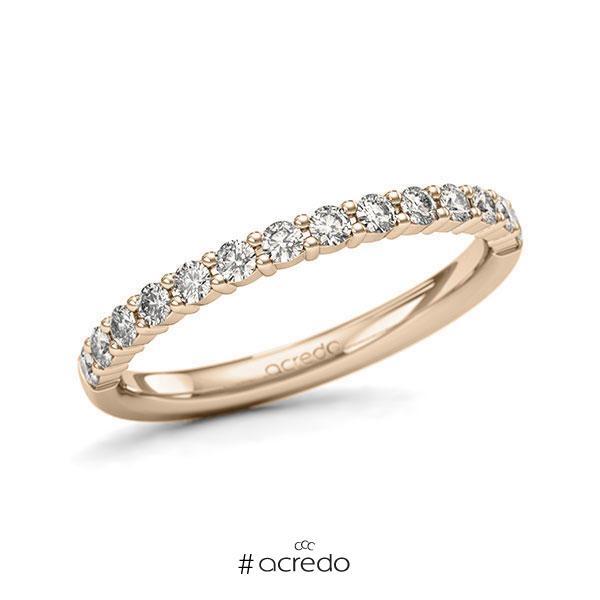 Memoire/Diamantring in Signature Gold 585 halbausgefasst mit zus. 0,42 ct. Brillant tw, si von acredo