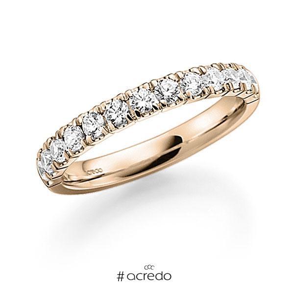 Memoire/Diamantring in Signature Gold 585 halbausgefasst mit zus. 0,72 ct. Brillant tw, vs von acredo