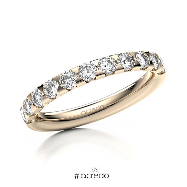 Memoire/Diamantring in Signature Gold 585 halbausgefasst mit zus. 0,77 ct. Brillant tw, si von acredo