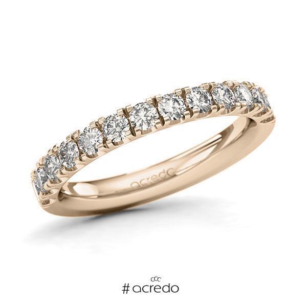 Memoire/Diamantring in Signature Gold 585 halbausgefasst mit zus. 0,78 ct. Brillant tw, si von acredo