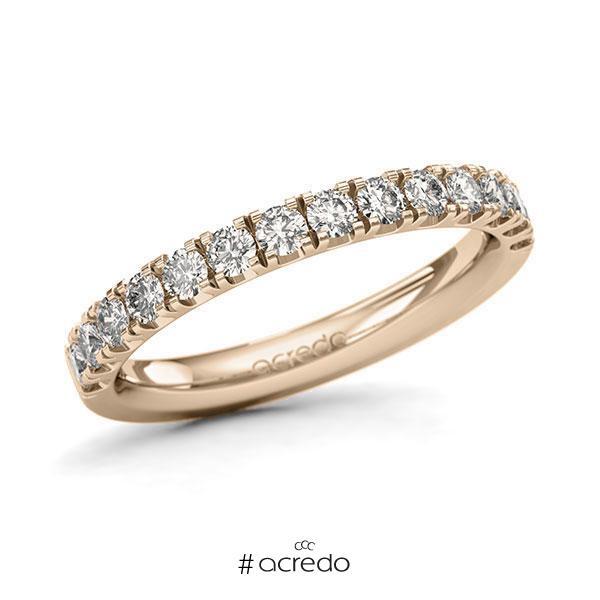 Memoire/Diamantring in Signature Gold 585 halbausgefasst mit zus. 0,7 ct. Brillant tw, si von acredo