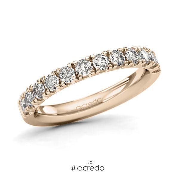 Memoire/Diamantring in Signature Gold 585 halbausgefasst mit zus. 0,84 ct. Brillant tw, si von acredo