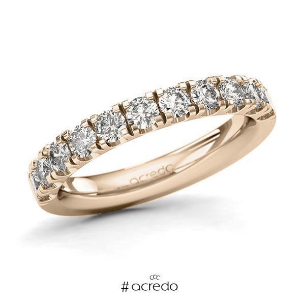 Memoire/Diamantring in Signature Gold 585 halbausgefasst mit zus. 1,1 ct. Brillant tw, si von acredo