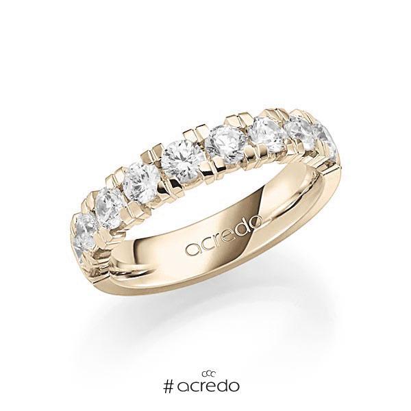 Memoire/Diamantring in Signature Gold 585 halbausgefasst mit zus. 1,35 ct. Brillant tw, vs von acredo