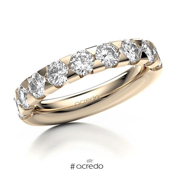 Memoire/Diamantring in Signature Gold 585 halbausgefasst mit zus. 1,8 ct. Brillant tw, si von acredo