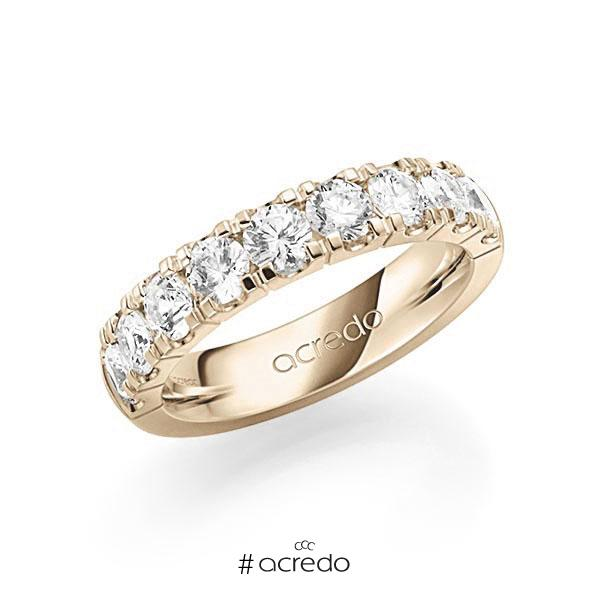 Memoire/Diamantring in Signature Gold 585 halbausgefasst mit zus. 1,8 ct. Brillant tw, vs von acredo