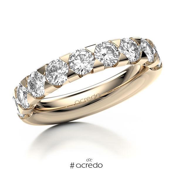 Memoire/Diamantring in Signature Gold 585 halbausgefasst mit zus. 2,25 ct. Brillant tw, si von acredo