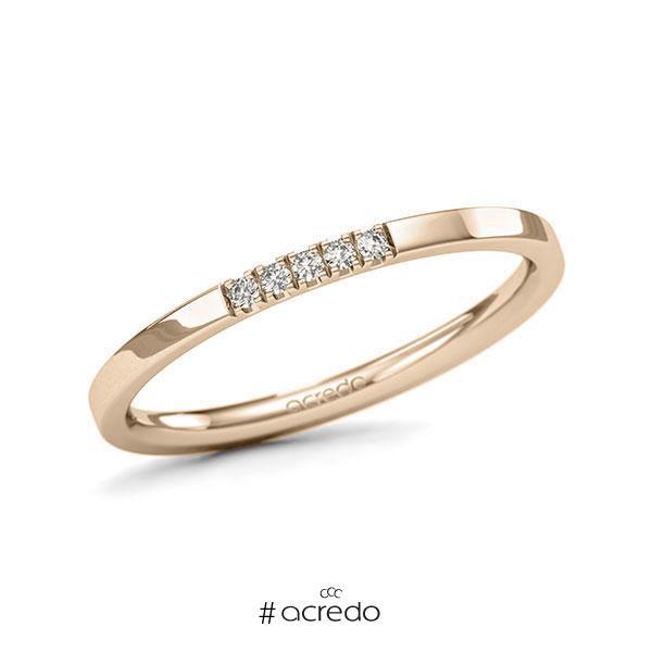 Memoire/Diamantring in Signature Gold 585 mit zus. 0,05 ct. Brillant tw, si von acredo