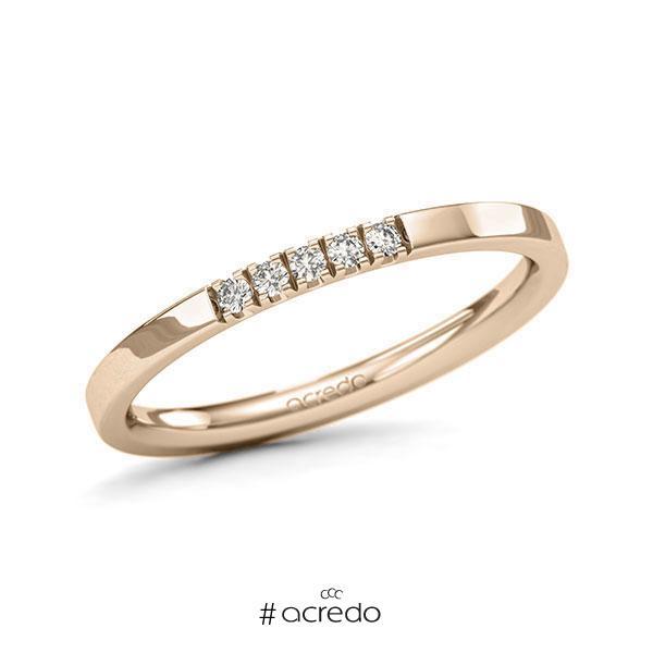 Memoire/Diamantring in Signature Gold 585 mit zus. 0,075 ct. Brillant tw, si von acredo