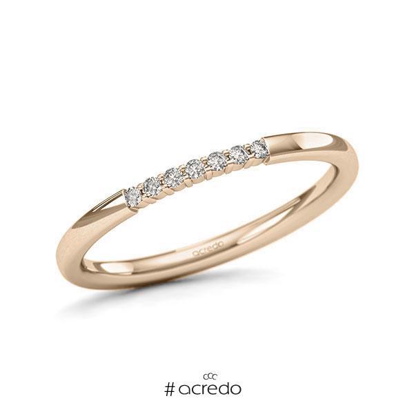 Memoire/Diamantring in Signature Gold 585 mit zus. 0,07 ct. Brillant tw, si von acredo