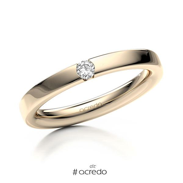 Memoire/Diamantring in Signature Gold 585 mit zus. 0,08 ct. Brillant tw, si von acredo