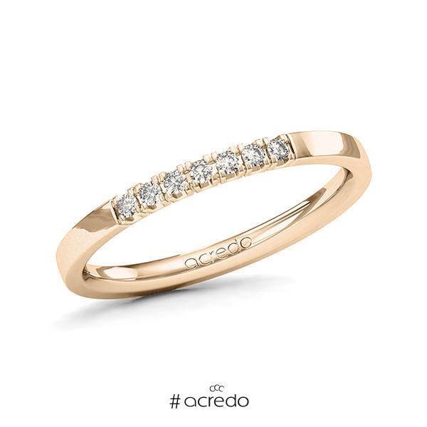 Memoire/Diamantring in Signature Gold 585 mit zus. 0,105 ct. Brillant tw, vs von acredo