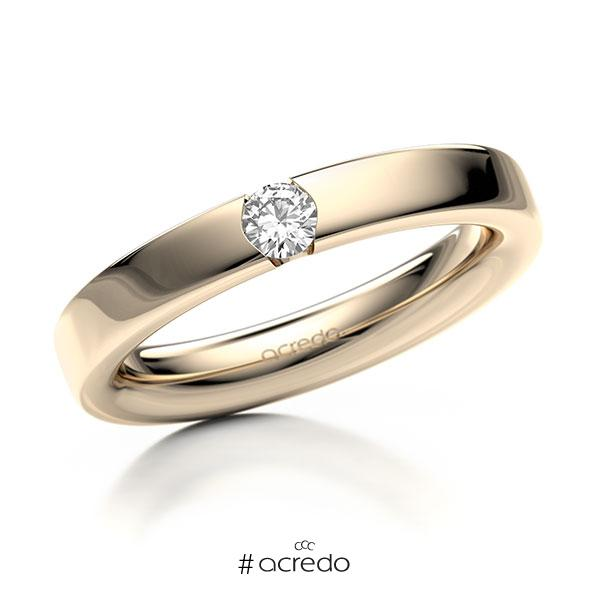 Memoire/Diamantring in Signature Gold 585 mit zus. 0,15 ct. Brillant tw, si von acredo