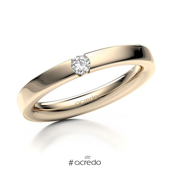 Memoire/Diamantring in Signature Gold 585 mit zus. 0,1 ct. Brillant tw, si von acredo