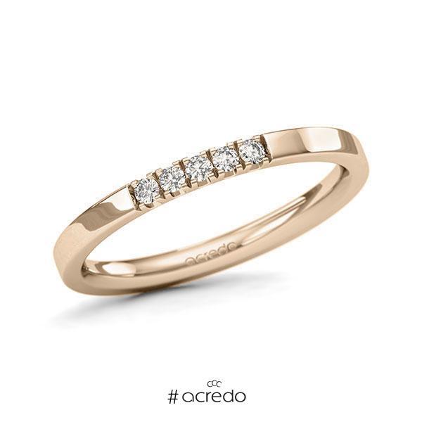 Memoire/Diamantring in Signature Gold 585 mit zus. 0,1 ct. Brillant tw, si von acredo